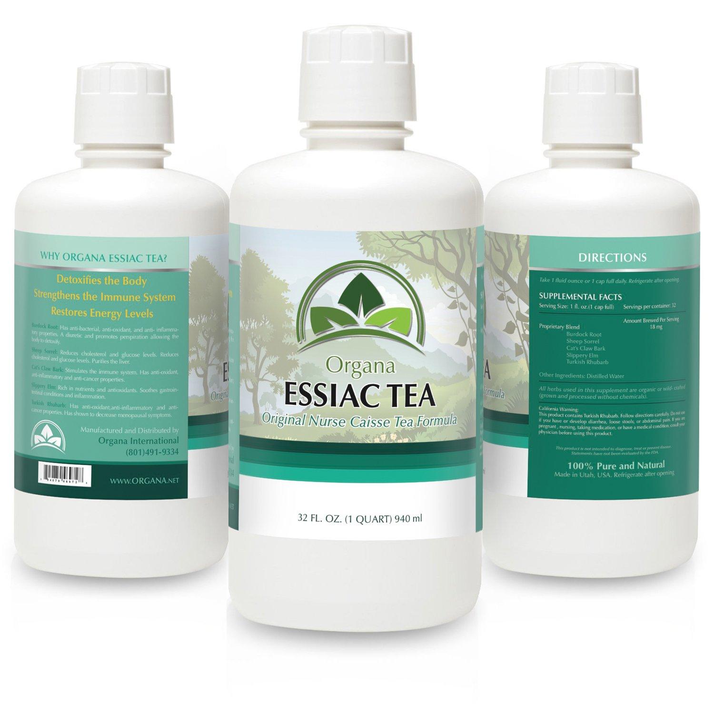 THE BEST Essiac Tea - Certified Organic - Essiac Tea the Native Herbal Remedy - (1 qt 32 Fl Oz.) - Organa Essiac Tea by NutriNoche
