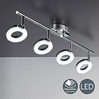 Lámpara de techo LED moderna incl. 4x4,5W bombillas