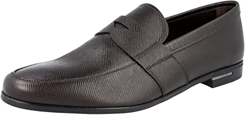 Saffiano Leather Loafers US 7