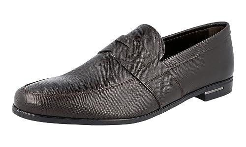 Prada 2DE072 - Mocasines para Hombre, Color Marrón, Talla 44.5 EU: Amazon.es: Zapatos y complementos