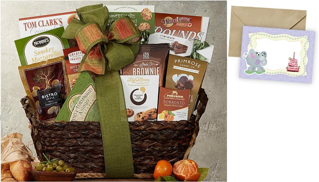 CD870565 Gourmet Choice Gift Basket for Birthday and personalized card mailed seperately