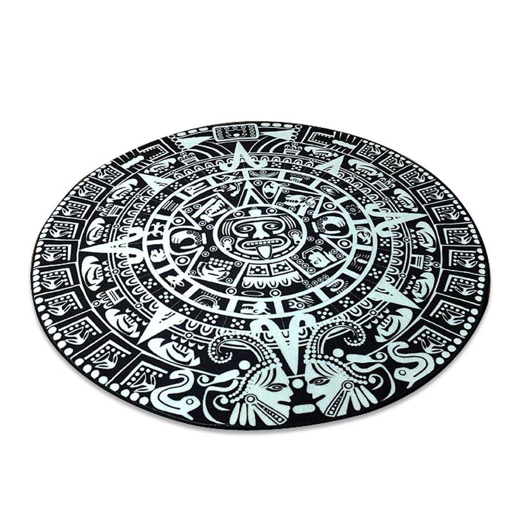 リビング カーペット 現代 じゅうたん アメリカン 絨毯 ラグ 滑り止め 敷物 北欧デザイン 約1.5畳 EBODONG 150cm(円)  B078N5GLQ9