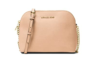 93205b94352186 Michael Kors Cindy Large Dome Crossbody Saffiano Leather (Oyster ...