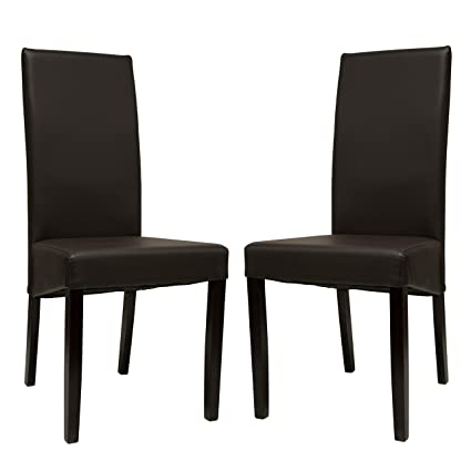Astounding Amazon Com Premium Tobago Black Dining Chairs Set By Evergreenethics Interior Chair Design Evergreenethicsorg