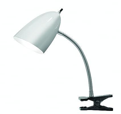 Tensor 17974 002 19 inch gooseneck clip on desk lamp with brushed steel