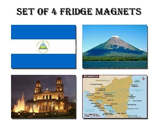 CFL SET OF 4 NICARAGUA CALAMITA DA FRIGO IMANES PARA NEVERA ...