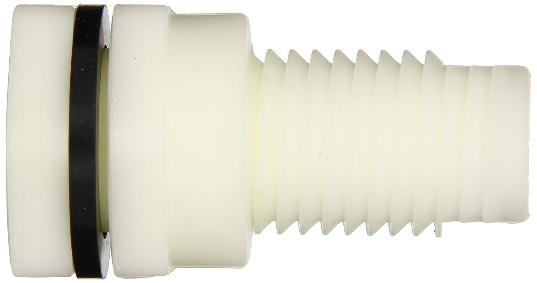 Threaded x Threaded End 1//2 Size 1//2 Size Hayward Industries Inc. PP with EPDM Seals Hayward BFA3005TES Series BFA Standard Flange Bulkhead Fitting