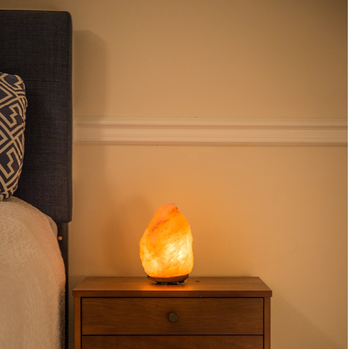 Mineralamp NSL-101 Natural Himalayan Hand Carved Salt Lamp with Indian Rosewood Base, Bulb And Dimmer Control, Medium Size, 8-11 lbs, 7.5-10'' Height by Mineralamp (Image #5)