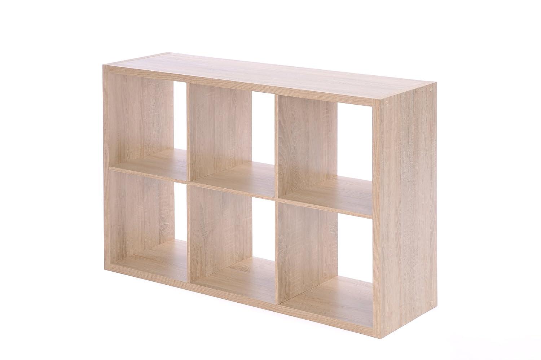 Raumteiler 6 Fächer - Bücherregal, Standregal (verschiedene Farben ...