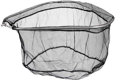 Folding Stainless Steel Triangle Frame Nylon Fishing Landing Net Head Black