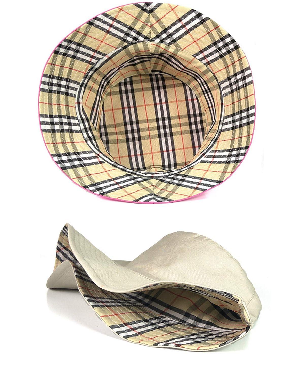 Bestgift Women Summer Travel Bucket Hat Customizable Cotton