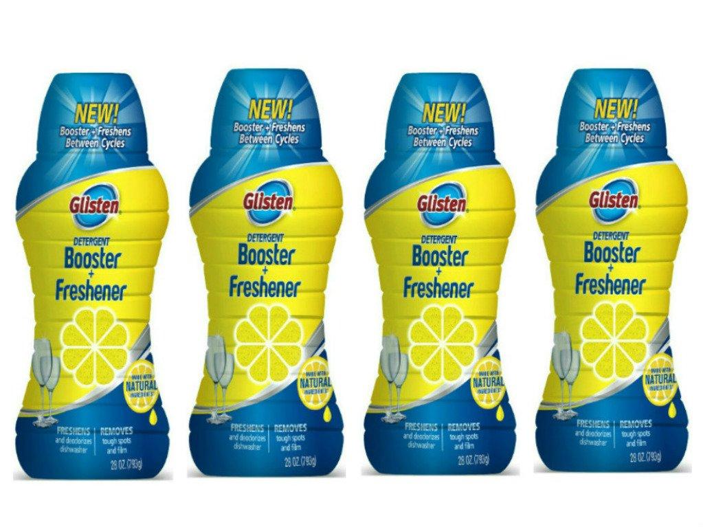 Glisten Dishwasher Detergent Booster and Freshener 4-Pack