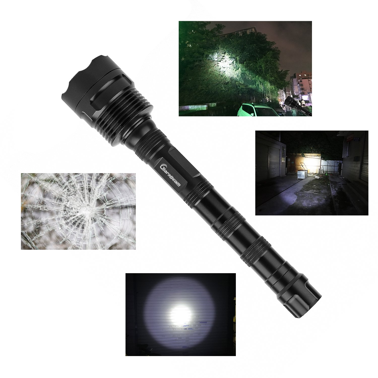 GiareBeam LED Flashlight 12X CREE XM-L T6 10000 Lumens Super Bright Waterproof 5 Modes Torch for Home and Outdoor Activities