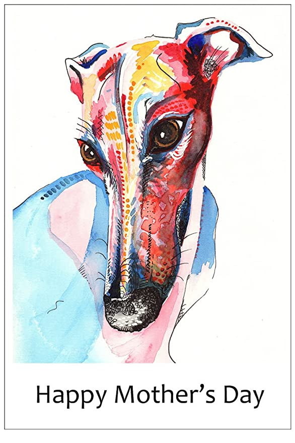 Mothers Day Card Greyhound Whippet Lurcher Italian Gift CUSTOM TEXT Gifts