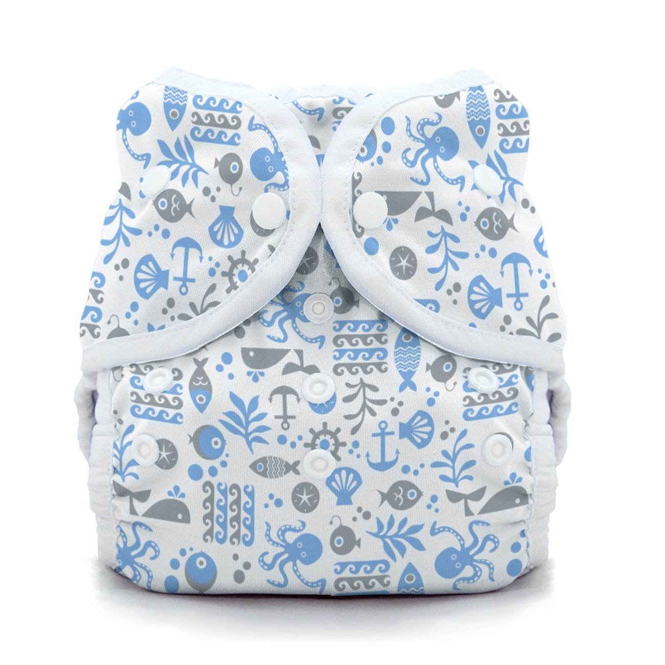 Thirsties Duo Wrap Cloth Diaper Cover - Ocean Life - Size 2 - Snap