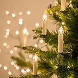 Filo di 20 luci LED a candela con mollette per Albero di Natale di Lights4fun
