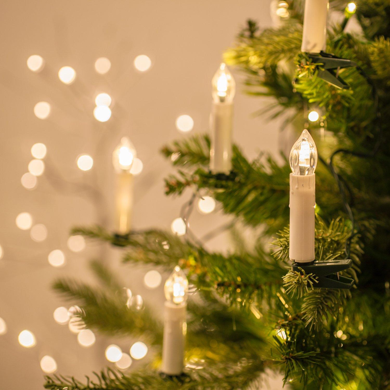 Catena Prolungabile di 20 Luci LED a Candela per Albero di Natale Lights4fun