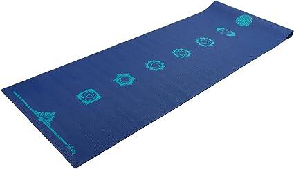 Chakra Sticky Yoga Mat 7 Chakras In Egplant Or Blue Blue Amazon Co Uk Sports Outdoors