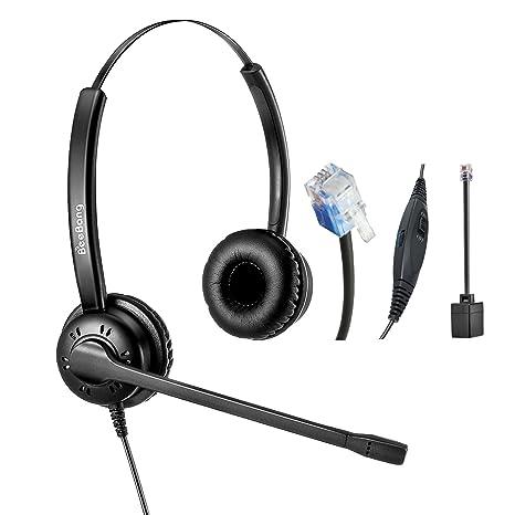 Auricolare Telefono RJ9 binaurali Call Center Cuffie con microfono a  cancellazione di rumore per Cisco IP 71d5e1a2fb29