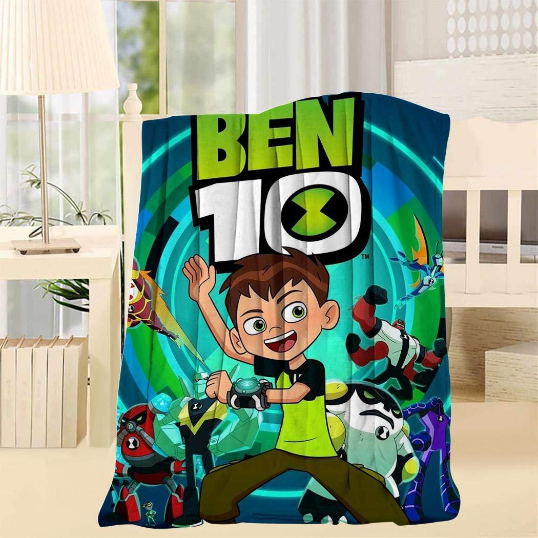 Others Super Soft Blanket 3D Ten Ben-Tennyson Fleece Woolen Blanket Warm for Adults and Children