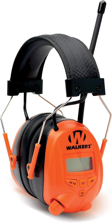 Walker's Game Ear GWP-SF-RDOM-OR AM/FM Radio MUFF - Blaze Orange