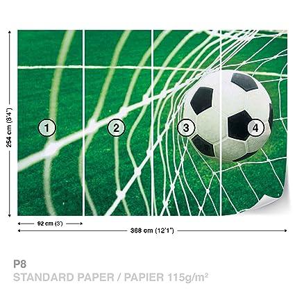 . Soccer Goal Football Wall Mural Photo Wallpaper Room D cor  015WS