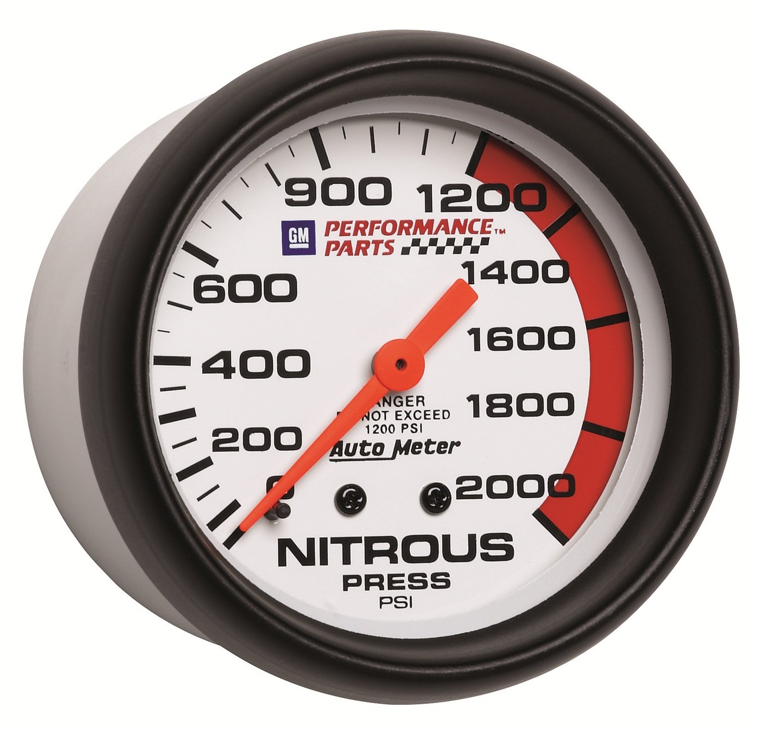 Auto Meter 5828-00407 GM Performance Parts 2-5/8' 0-2000 PSI Mechanical Nitrous Pressure Gauge