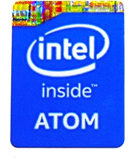 763 Original Intel Inside Black Sticker 16 x 19mm