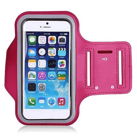 Theoutlettablet® Sportarmband / Handyhülle aus Neopren, zum Joggen, für BQ Aquaris M5, Pink / Fuchsia