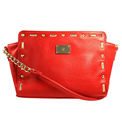 9fb739b19716 Image Unavailable. Image not available for. Color  INC International  Concepts Women s Studded Leather Crossbody Bag ...