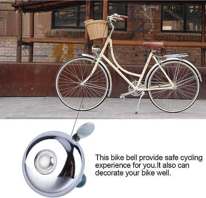 Safety Radfahren Fahrrad Lenker Metall Schwarz Fahrradklingel Horn Sound Al O8O5