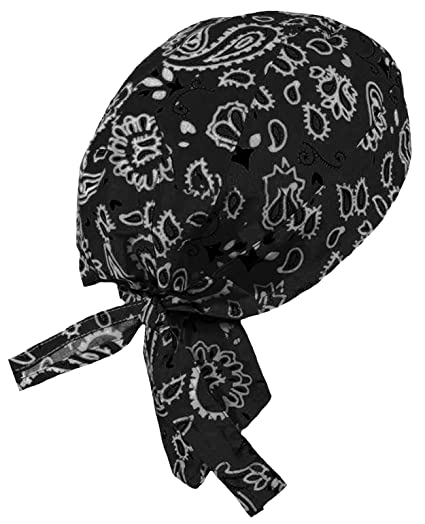 db9688934ed Paisley Doo Rag Du Rag Do Cotton Bandana Headwrap PICK COLOR Chemo Cap  (Black Paisley