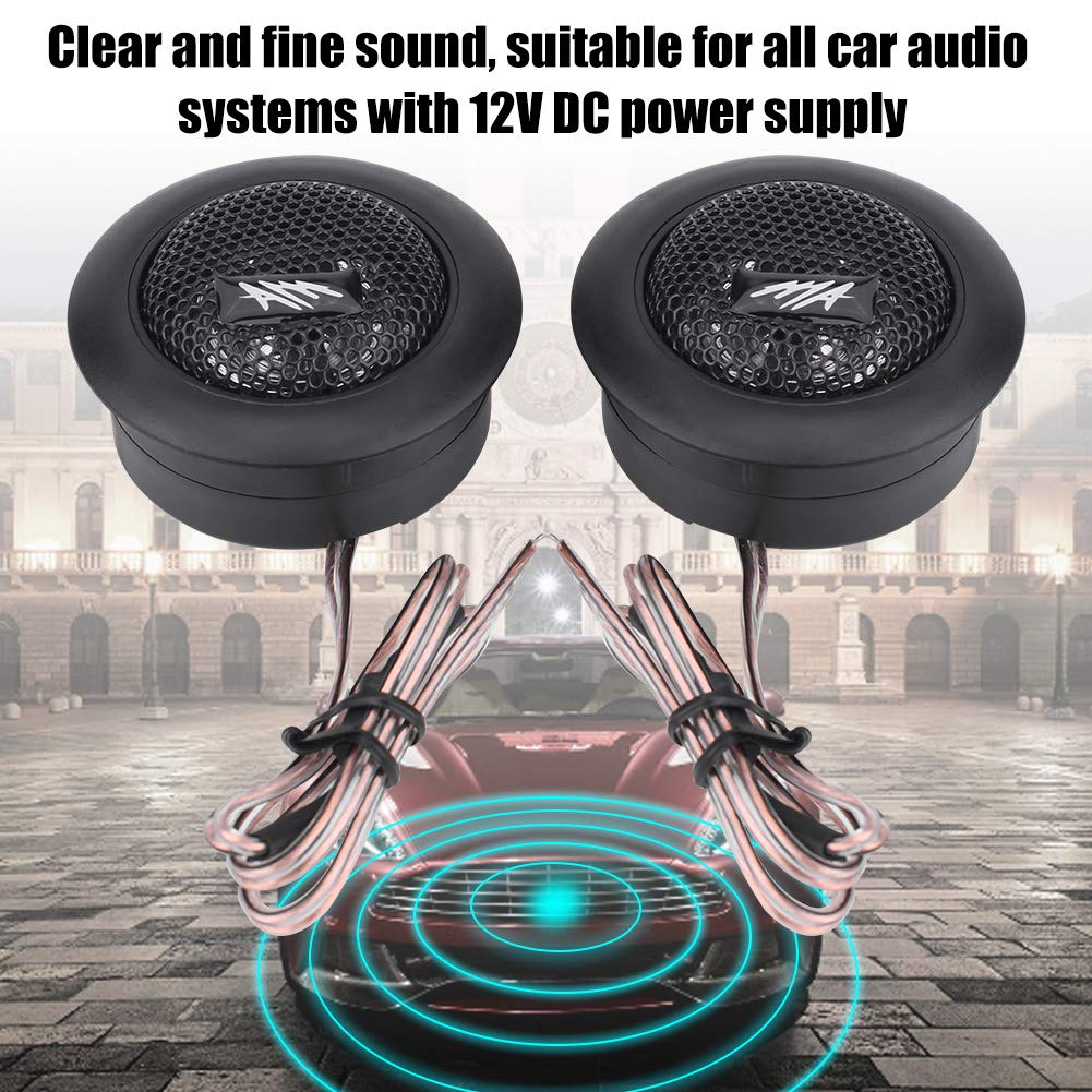 Qiilu Haut-parleur audio paire g/én/érale de voiture 12V 150W Mini Super Power Loud Dome Haut-parleur audio Tweeter Loudspeaker Horn