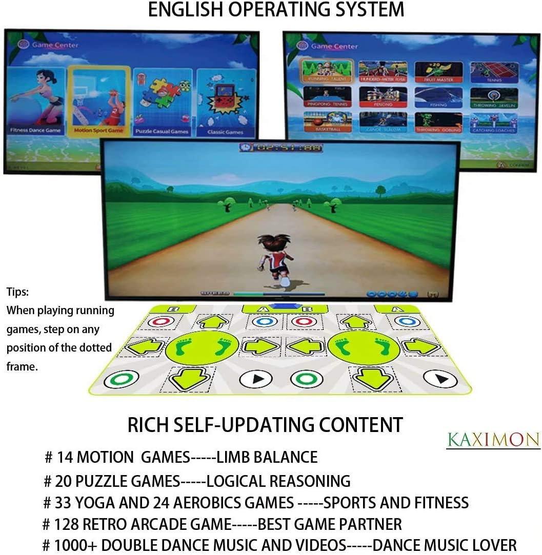 Doppeltanzmatte F/ür Kinder Und Erwachsene Wireless-Tanz-Pad Mit Englischem Handbuch Und HDMI-Ausgang MTV Mit 720P HD-Aufl/ösung TV Computer-Dual-Use