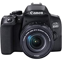 Canon EOS 850D DSLR digitalkamerahus – med objektiv EF-S 18-55 mm F4-5.6 IS STM (24,1 MP, 7,5 cm (3 tum) display, APS-C…