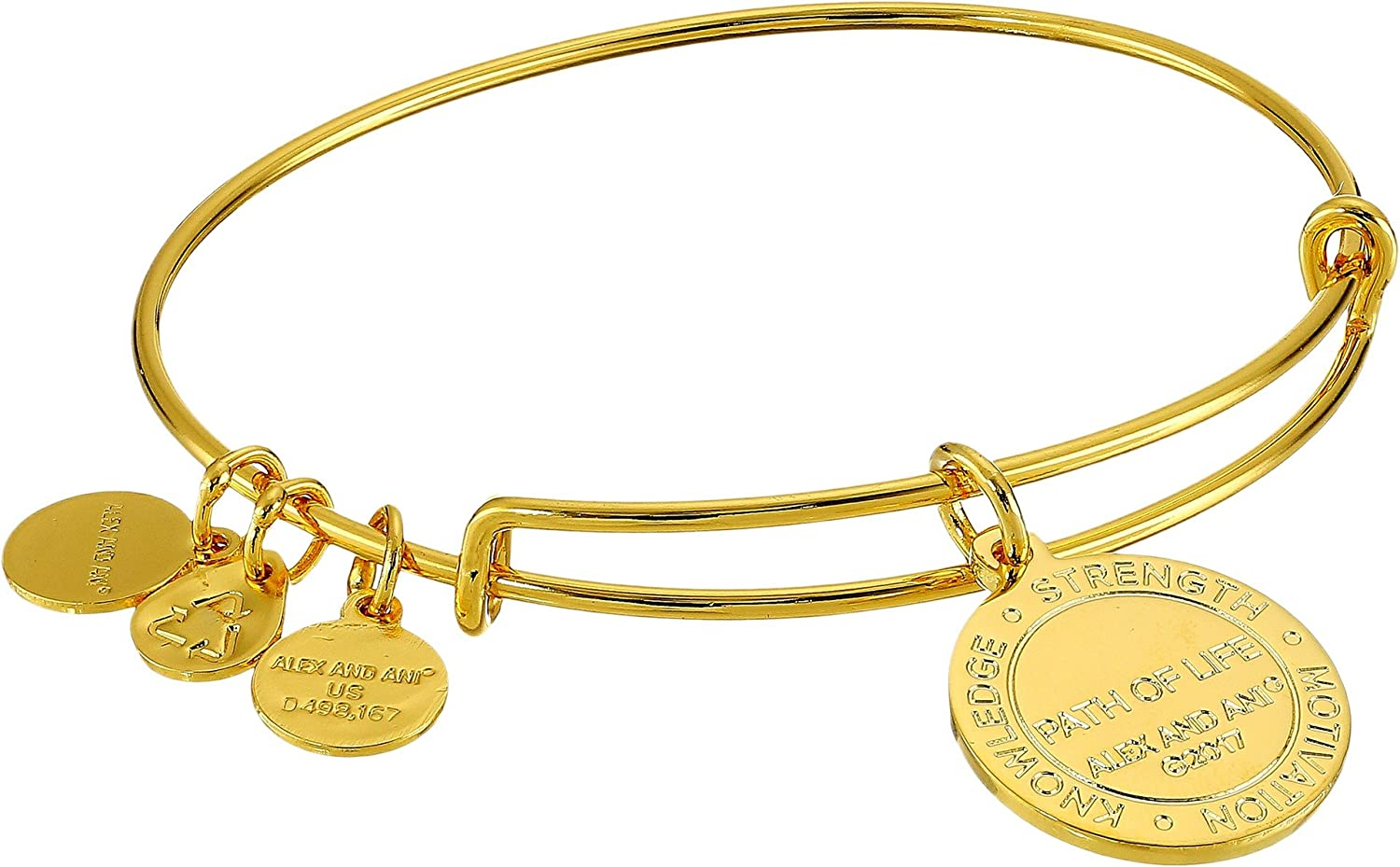 Path of Life Authentic Alex and Ani Color Infusion Yellow Gold Bangle