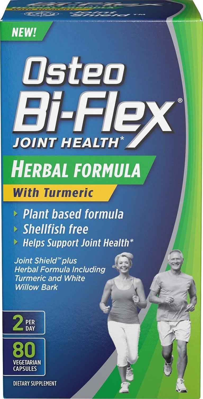 Osteo Bi-Flex Herbal Formula w Turmeric 80 Vegetarian Capsules