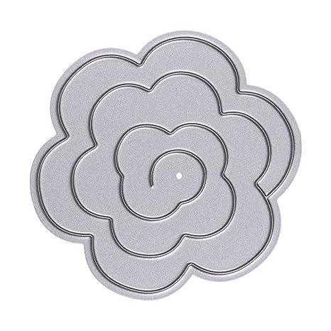 Amazingdeal365 Stencil Estéreo papel de la flor Cortar Dies plantilla para DIY Scrapbooking