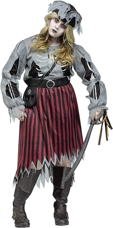 Generique - Disfraz Mujer Pirata Zombie Talla Grande XL: Amazon.es ...