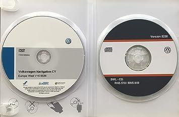 Pack DVD-ROM Volkswagen Navigation CY Europe West V16 + Firmware VW 5238   Update DVD Maps RNS510 / RNS810