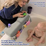 Baby Bath Kneeler with Elbow Rest Pad Set for
