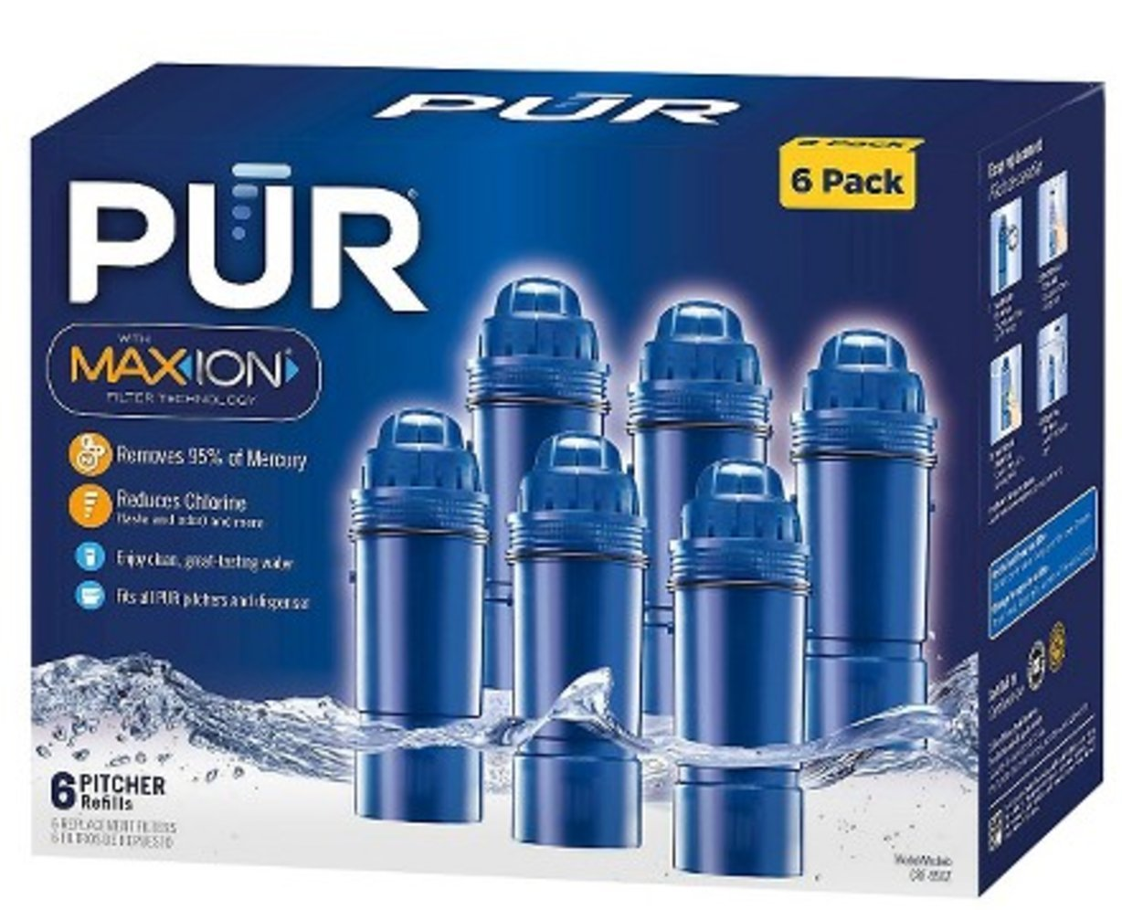 PUR 2-Stage Water Pitcher Replacement Filter, 6-Pack by PUR
