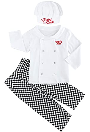 amazoncom fancyinn baby kids chef cook outfit halloween props costume 3 piece set clothing