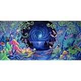 """Psychedelic Trippy Art Fabric Cloth Rolled Wall Poster Print -- Size: (28"""" x 13"""")"""