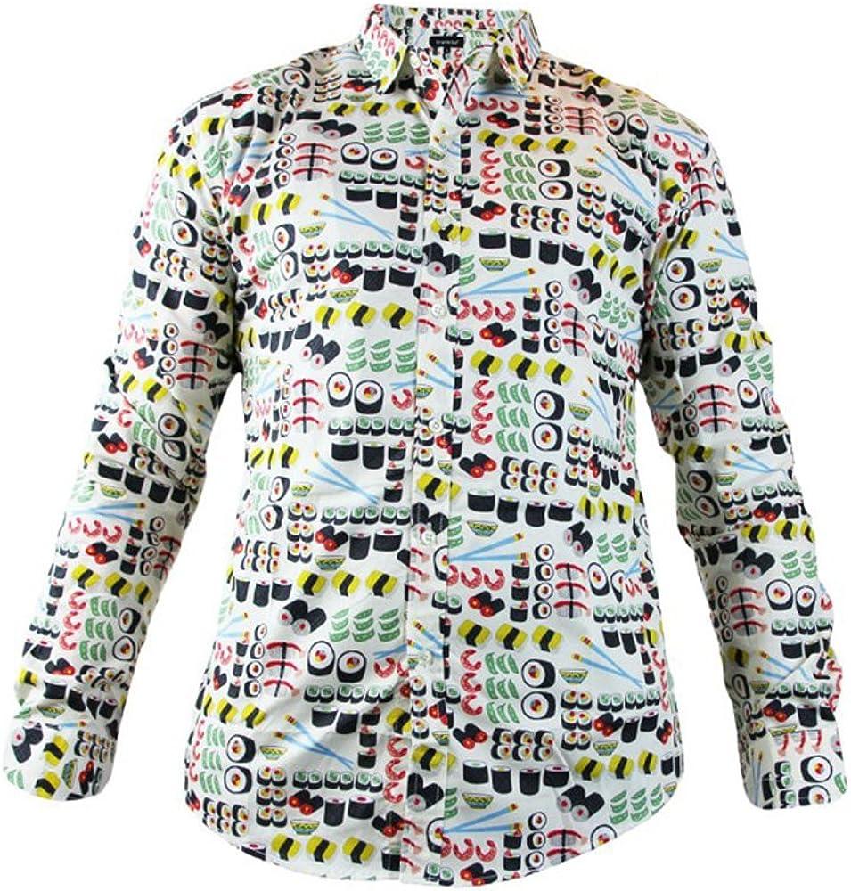 Camisa Trankilo con estampado de Sushi con manga larga (XL): Amazon.es: Ropa y accesorios