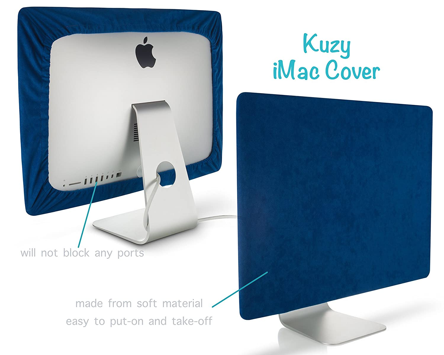 Kuzy - Screen Cover for iMac 27-inch Dust Cover Display Protector (Models: A1862, A1419, A1312) - GRAY