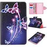 Skytar Cover for Galaxy Tab A6 2016 ,Samsung TabA 7'' Case - Slim PU Leather Wallet Stand Folding Cover Case for Samsung Galaxy Tab A 7.0 Inch 2016(SM-T280N / SM-T285N) Tablet,Purple butterfly