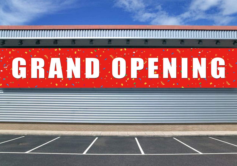 New Now Open Banner Sign Huge 2 feet x 8 Big Grand Opening Store Restaurant Flag