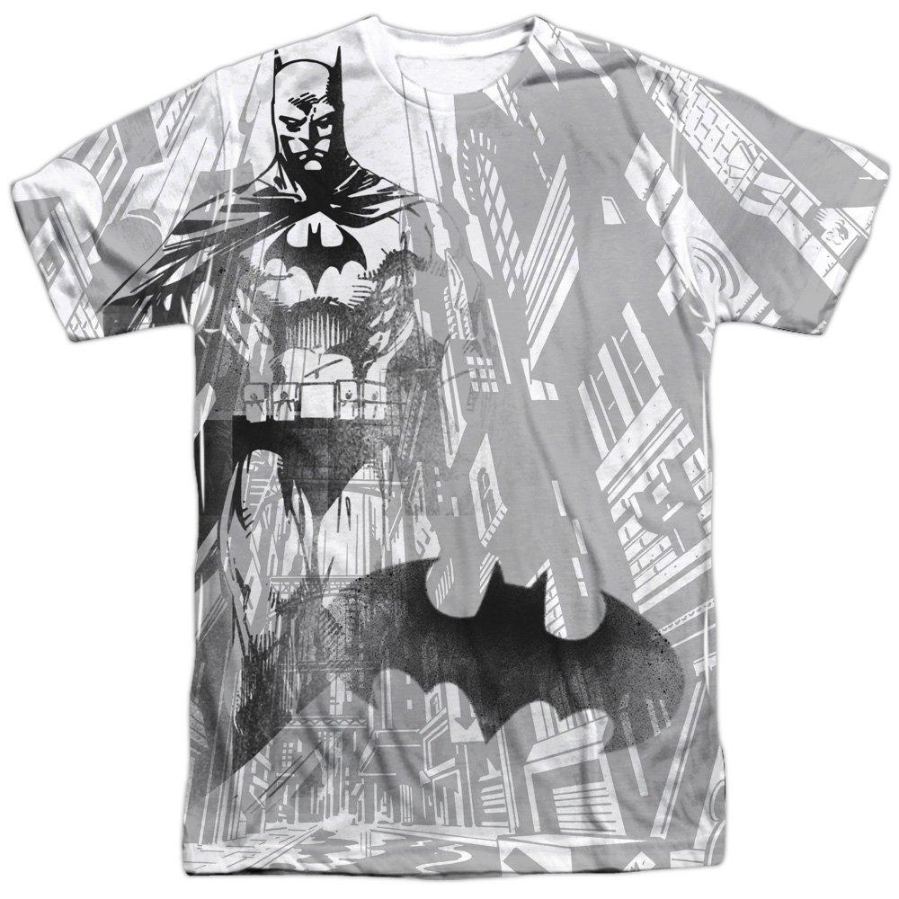 Batman Comic Cartoon TV Series Movie Gotham Vigilance Adult Front Print T-Shirt Trevco