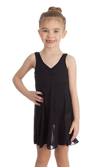 58e726374 Amazon.com   Elowel Kids Girls Empire Leotard Dress (Size 2-14 Years ...
